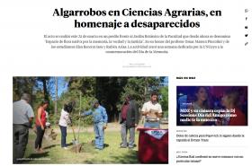 Algarrobos en Ciencias Agrarias, en homenaje a desaparecidos