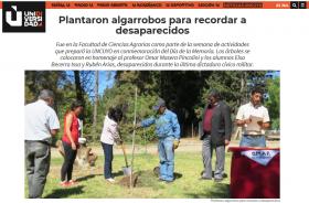 Plantaron algarrobos para recordar a desaparecidos