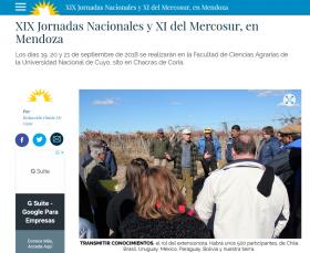 XIX Jornadas Nacionales y XI del Mercosur en Mendoza