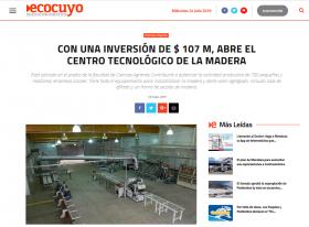 Con una inversión de $ 107 M, abre el Centro Tecnológico de la Madera