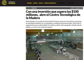 Con una inversión que supera los $100 millones,  abre el Centro Tecnológico de la Madera