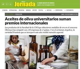 Aceites de oliva universitarios suman premios internacionales