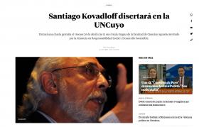 Santiago Kovadloff disertará en la UNCuyo
