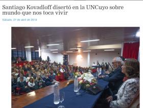 Santiago Kovadloff disertó en la UNCuyo sobre mundo que nos toca vivir