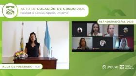 Ciencias Agrarias celebró la primera colación virtual de la UNCuyo