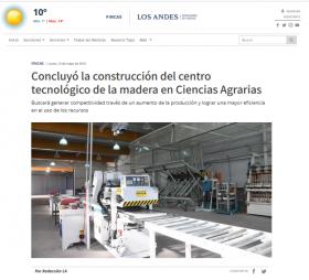 Concluyó la construcción del centro tecnológico de la madera en Ciencias Agrarias
