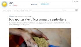Dos aportes científicos a nuestra agricultura