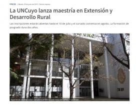 La UNCuyo lanza maestría en Extensión y Desarrollo Rural