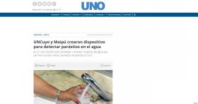 UNCuyo y Maipú crearon dispositivo para detectar parásitos en el agua