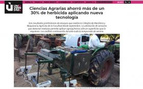 Ciencias Agrarias ahorró más de un 30% de herbicida aplicando nueva tecnología