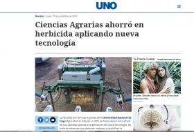 Ciencias Agrarias ahorró en herbicida aplicando nueva tecnología