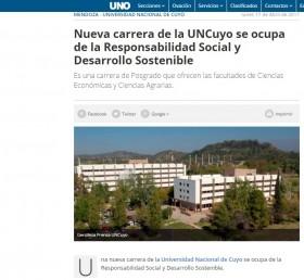 Nueva carrera de la UNCuyo se ocupa de la Responsabilidad Social y Desarrollo Sostenible